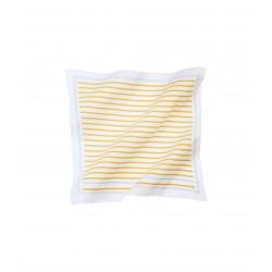 Unisex scarf in striped fine jersey