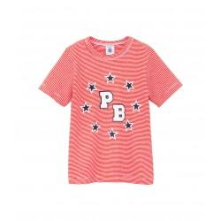 Boy's milleraies cotton T-shirt with silkscreen print