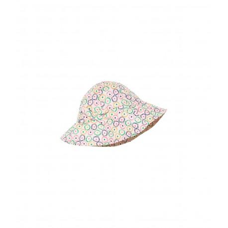 Girl's printed poplin sun hat