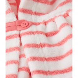 Μπουρνουζοπετσέτα με κουκούλα ριγέ για μωρό