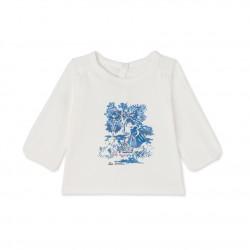 Baby girls' long-sleeved tee