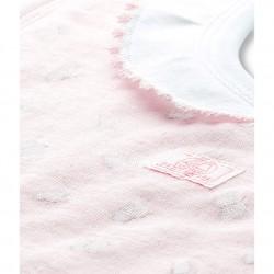 Baby girl printed tubic cotton bib