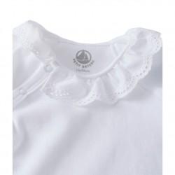 Newborn baby girl bodysuit with collar