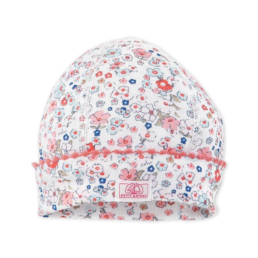 Newborn baby girl printed hat - petit-bateau.gr e2b7a9189498