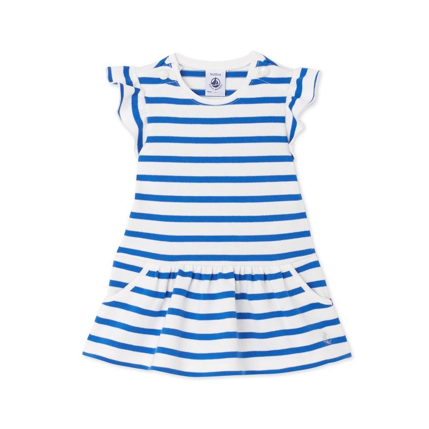 77f6d9040bd4 Baby girls  heavy jersey striped dress - petit-bateau.gr
