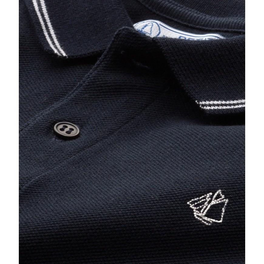 eea520d8605 Boys' polo shirt in pique jersey - petit-bateau.gr