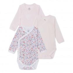 Set of 5 newborn baby girl bodysuits