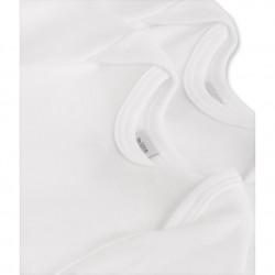 Pack of 2 unisex baby plain short-sleeve bodysuits