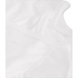 Σετ κορμάκια κοντομάνικα μονόχρωμα με μπροστινό άνοιγμα για μωρό unisex