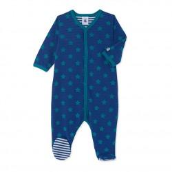 Baby boys' reversible tube knit sleepsuit