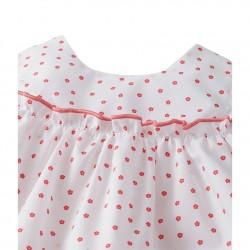 Σετ φόρεμα αμάνικο με σχέδιο και φουφούλα για μωρό κορίτσι