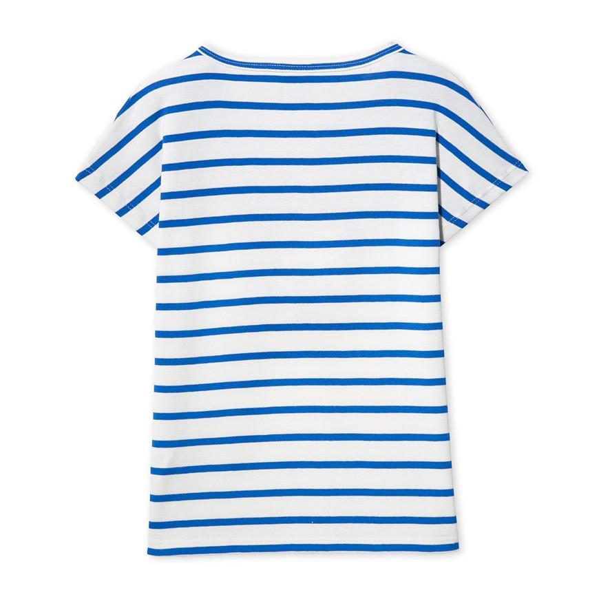 Μπλούζα κοντομάνικη με σχέδιο ριγέ για κορίτσι - petit-bateau.gr f0eb9954277