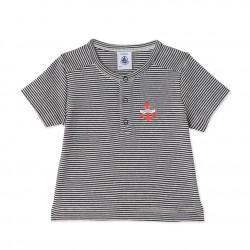 Μπλούζα κοντομάνικη ριγέ για μωρό αγόρι