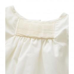 Φόρεμα με σαλιάρα με πιέτες για μωρό κορίτσι