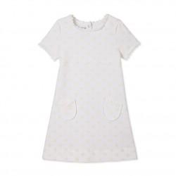 Φόρεμα κοτνομάνικο βαμβακερό για κορίτσι