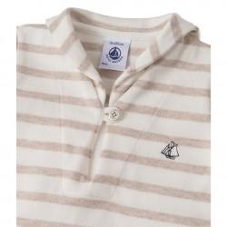 Μπλούζα μακρυμάνικη ριγέ βαμβακερή για μωρό αγόρι