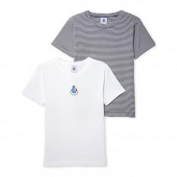 Σετ 2 μπλούζες κοντομάνικες βαμβακερές για αγόρι