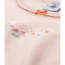 Πυτζάμα μακρυμάνικη βαμβακερή με σχέδιο για κορίτσι