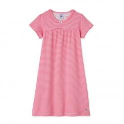 Girls' milleraies striped nightdress