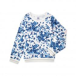Girls' print fleece sweatshirt