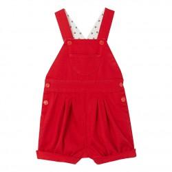 Baby girls' short twill overalls