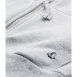 Boys' zipped cotton fleece sweatshirt