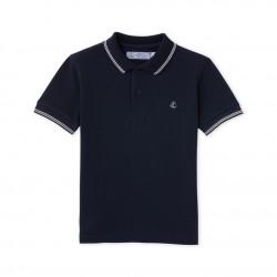 Boys' polo shirt in pique jersey