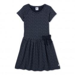 Φόρεμα κοντομάνικο βαμβακερό με σχέδιο για κορίτσι