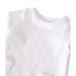 Φόρεμα κοντομάνικο πουά για μωρό κορίτσι