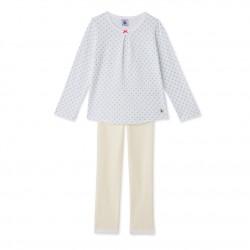 Girls' print and striped pyjamas