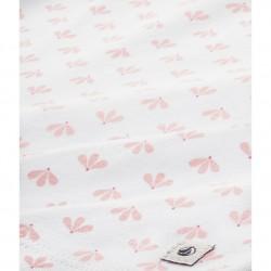 Girls' rose print short pyjamas