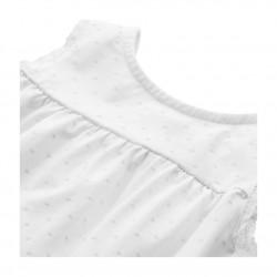 Girl's polka dot cotton short pyjamas with lace finish