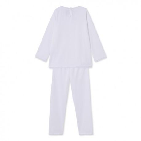 Girl's pyjamas with embossed polka dot print