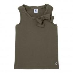Girls' openwork knit tank top