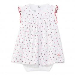 Φόρεμα με ενσωματωμένο κορμάκι με σχέδιο για μωρό κορίτσι
