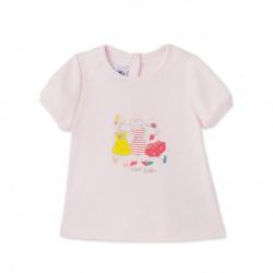 Baby girls' silkscreen print tee