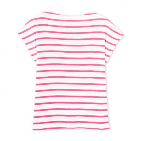 Μπλούζα κοντομάνικη με σχέδιο ριγέ για κορίτσι