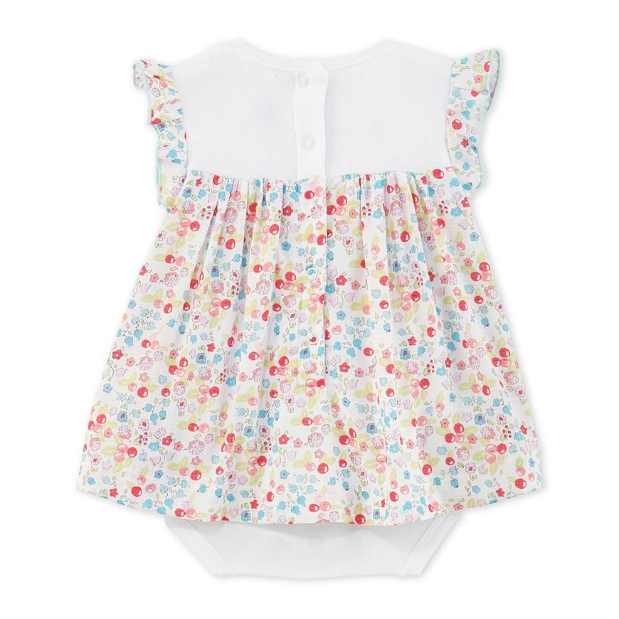 cc1be07013d Φόρεμα με ενσωματωμένο κορμάκι κοντομάνικο με σχέδιο για μωρό κορίτσι