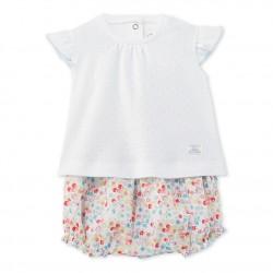 Σετ μπλούζα κοντομάνικη και φουφούλα για μωρό κορίτσι