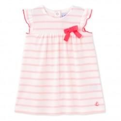 Φόρεμα κοντομάνικο ριγέ για μωρό κορίτσι