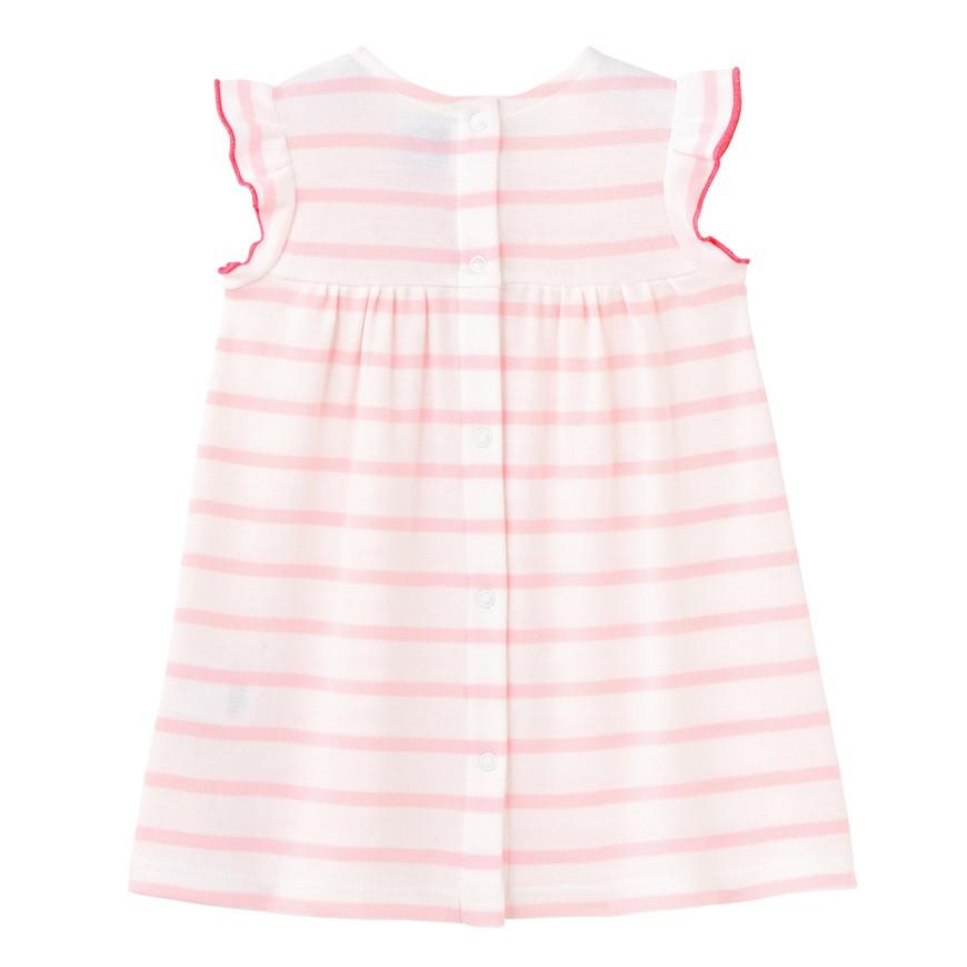 80cf3d0737a Φόρεμα κοντομάνικο ριγέ για μωρό κορίτσι - petit-bateau.gr