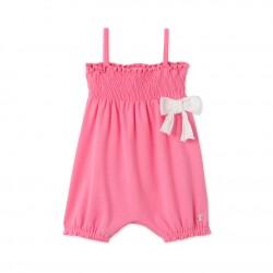 Baby girls' short coverall