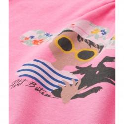 Girls' screen print tank top