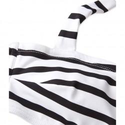 Women's two-piece striped swimsuit