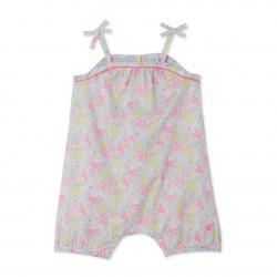 Σαλοπέτα κοντή με σχέδιο για μωρό κορίτσι