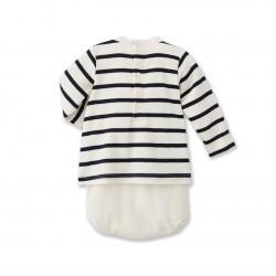 Baby's striped t-shirt bodysuit