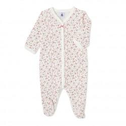 Baby girl's printed sleeper