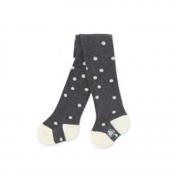 Baby girl's polka dot tights