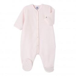 Baby girl's warm fleece coveralls