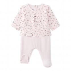 Baby's 2-in-1 jumpsuit in dual fabrics